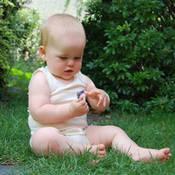 %100 Pamuklu Bebek Kolsuz Sıfır Yaka Badi + tasarım + baskı
