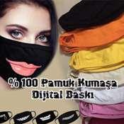 Maske Baskı - % 100 pamuklu