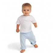 %100 Pamuklu Bebek Kısa Kollu Sıfır Yaka Tişört + tasarım + baskı