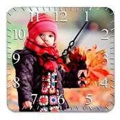 HDF Kare Duvar Saati 20 x 20 cm + baskı