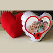Kalp Yastık Saten ve kadife 40 x 40 cm